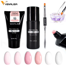 Venalisa Fast Builder nail gel 45g without logo 6 colors thick jelly canni acrylic nail extend poly gel slip solution liquid gel