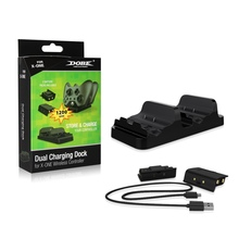 Dual Charger Charging Dock Station for Xbox One Controller With 2 Rechargeable Batteries Pack