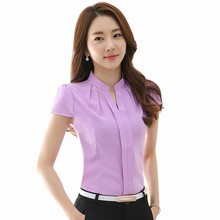 Direct Buy China Latest Short Sleeve Design Shirt Model Tailoring Cutting Women Blouse