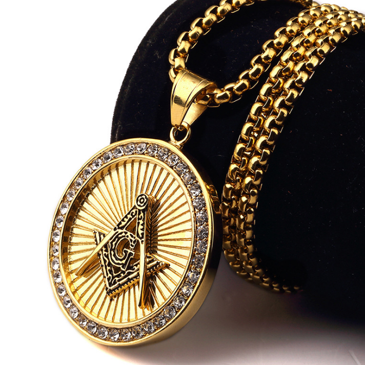 Hip hop jewelry 316l stainless steel gold necklace with diamond necklace 052315ag mozeypictures Images