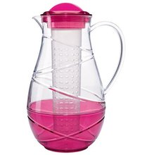Colored Ice Fruit Infusion Clear Acrylic Plastic Water Pitcher