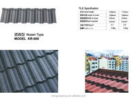 Waviness Stone Coated Roof Tile Aluminum Zinc Roofing Shingle Colorful Sand Coated Steel Roof