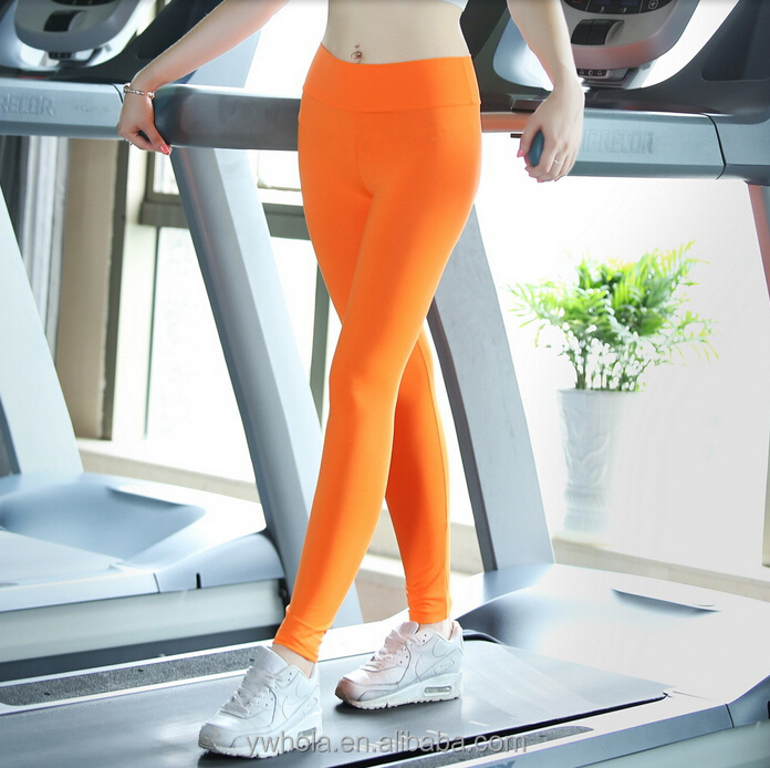 plain solid color exercise leggings wholesales yoga sport leggings pink leggings