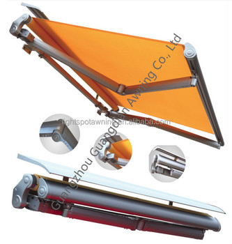 Folding awning electric canopy