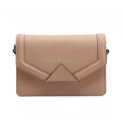CSYH336-001 New arrival Saffiano beige leather crossbody bags women shoulder bags