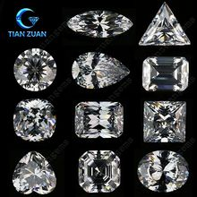 AAAAAA White color various shpae Synthetic Diamond Cubic Zirconia CZ gem stone