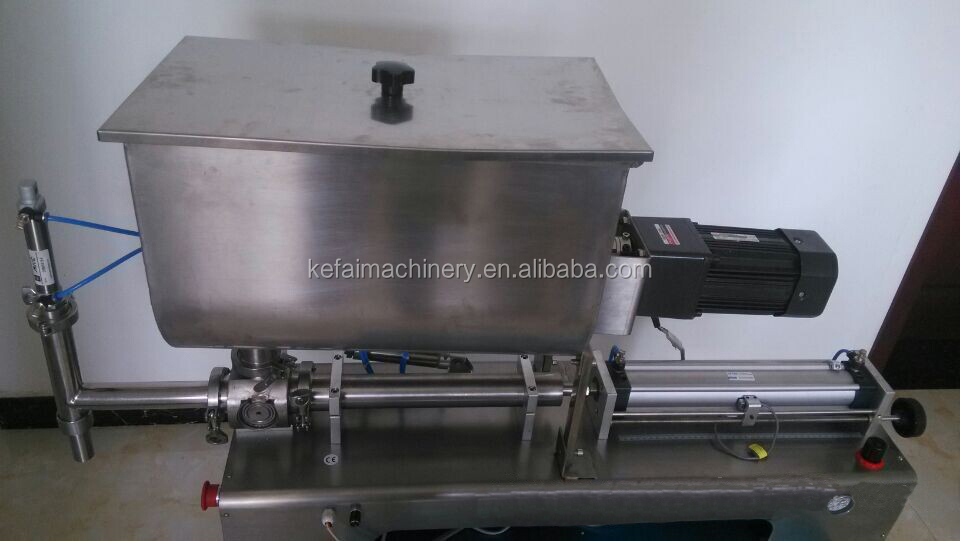 KEFAI 2018 high efficiency sauce mixing filling machine with horizontal stirrer