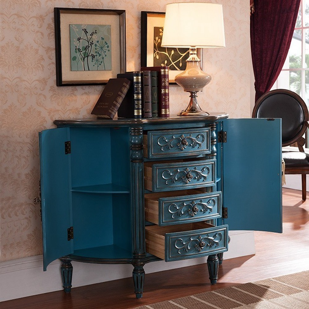 vintage chic wohnzimmer kommoden kommoden im antiken blau. Black Bedroom Furniture Sets. Home Design Ideas