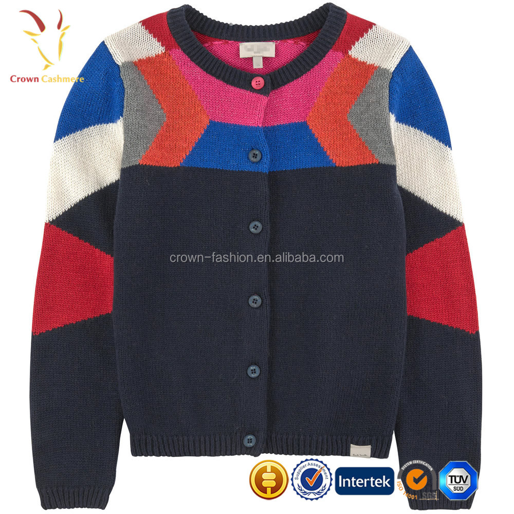 Custom Sweater Cardigan Colorful 2017 Pure Cashmere Kids Cardigan