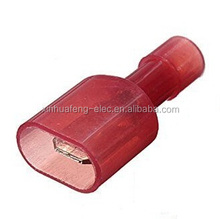 red Male Fully Insulated Wire crimp Terminals Connector Nylon Spade