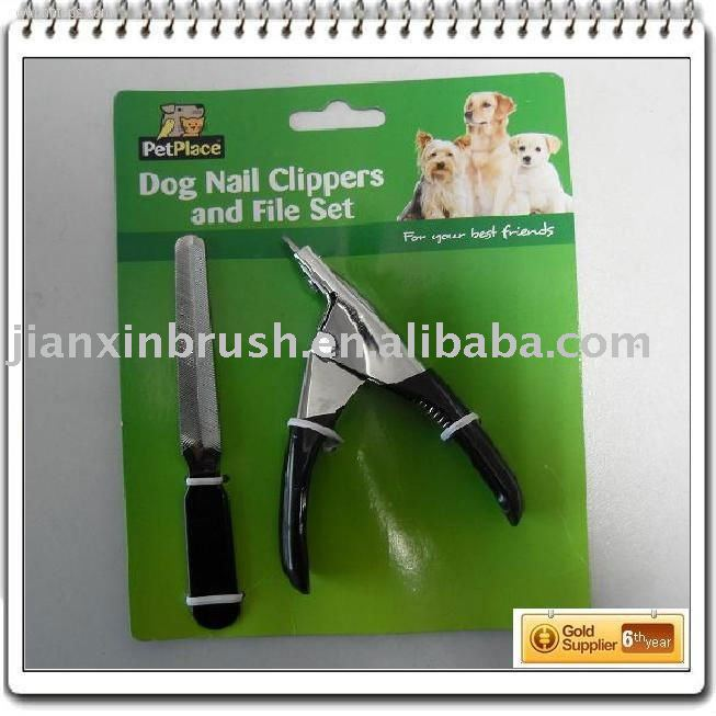 Pet supply dog nail scissors pet nail clipper set