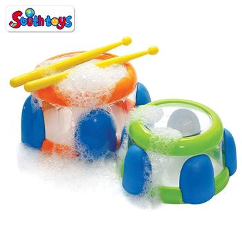Kids Bathtime Fun Floating Bath Water Drums Musical Instruments Toys