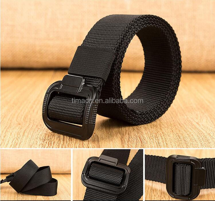Adjustable Webbing Green Black Military Duty Survival Utility Pistol Belt with Dual Tactical Belt