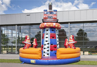 competing game Inflatable climbing tower fire truck