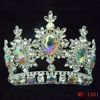 Fashion full crystal crown beauty pageant crowns, bridal crown, jewelry tiara wedding