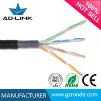 Hot selling 4*2*24awg CCA BC OFC network cat5e 4p outdoor utp cable