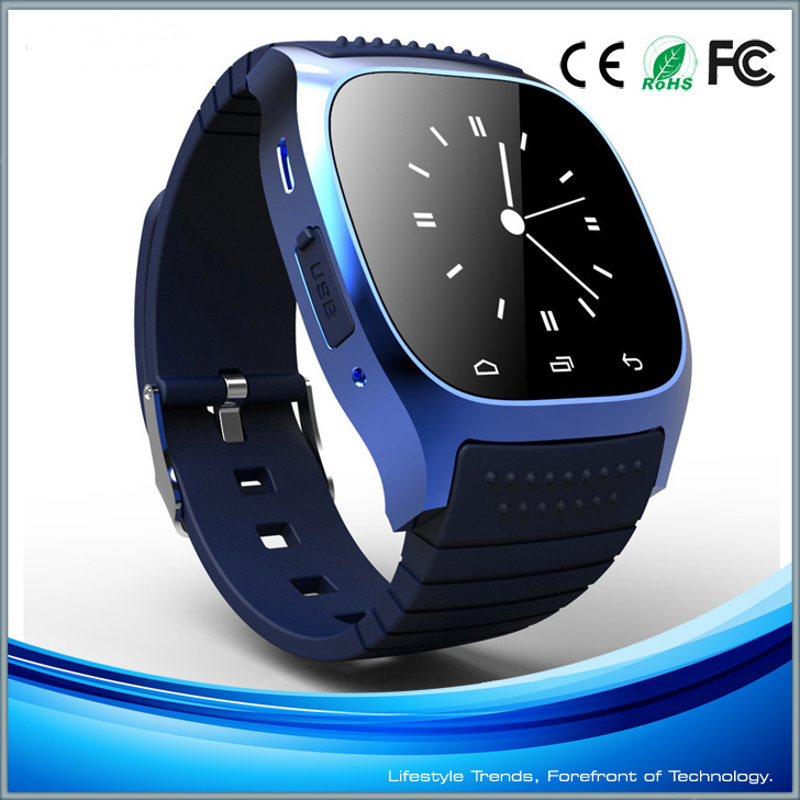 Blue Bluetooth Smart Wrist Watch Phone For IOS Android iPhone Samsung HTC