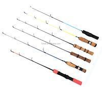 Factory supply cheap fishing tackle solid fiberglass spinning rod oem ice fishing rod