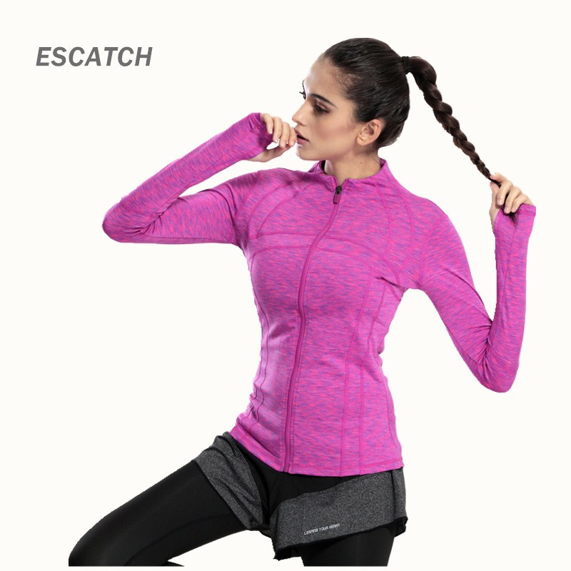 Outdoor Sports Running Yoga Clothes Long sleeve Women's Fitness Gym Sweatshirt Sportswear Slim Workout Shirts Tops