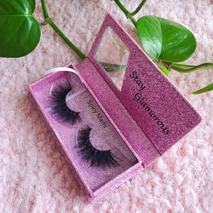 Professional hand made waterproof 3d mink eyelash extensions private label false eyelashes