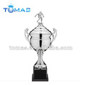 Silver soccer custom metal trophy