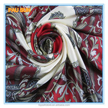Chinese design printed 100% silk fashion indian square scarf