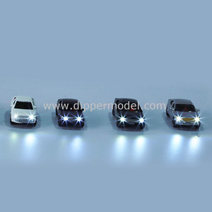 1:75 1:100 1:150 1:200 scale diecast miniature architectural scale luminous model car with wires