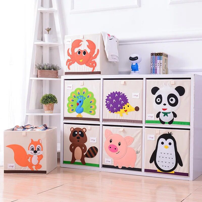 Storage Box Toy Bins ,FurnitureMz Linen Foldable Provide a Larger Storage Space for Your Child