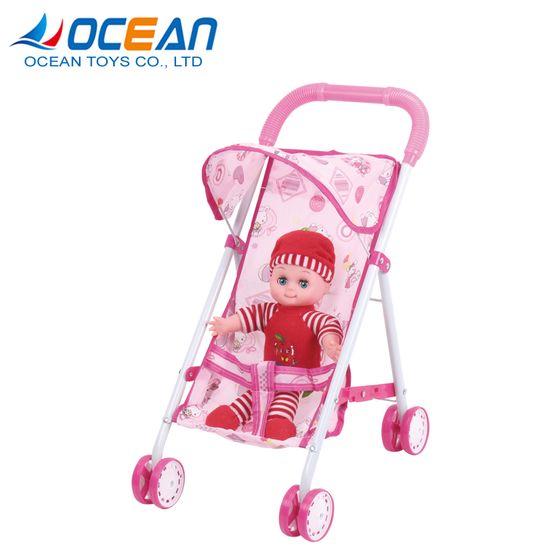 Baby walker china wholesale good baby doll stroller with 12 inch cotton doll