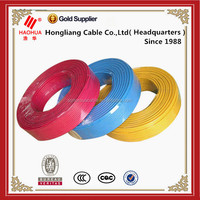 Solid single core 1.5 2.5 4 6 mm2 electrical wiring 450/750v PVC insulated copper cable