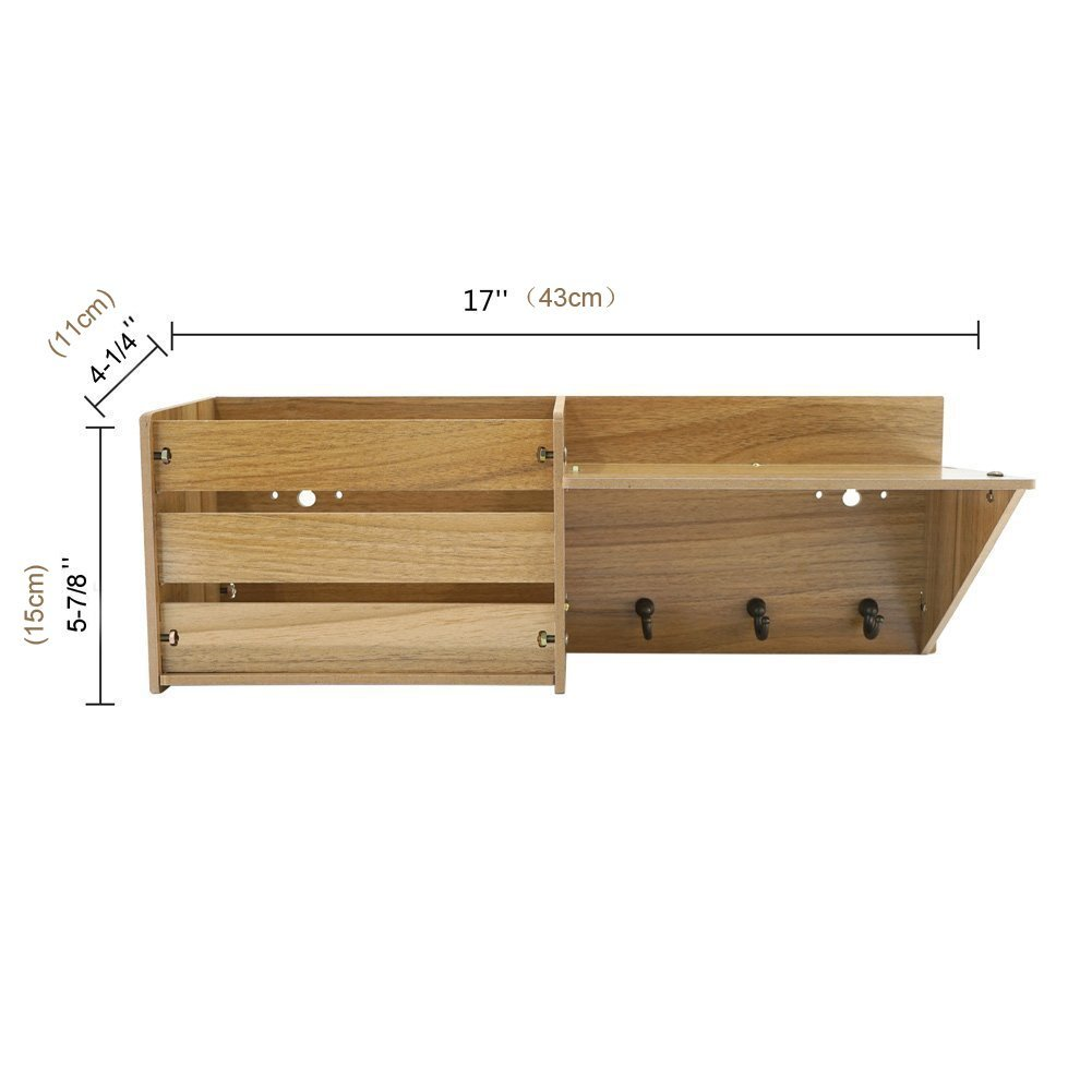 NEW products 3 metal hooks Wall Mounted Rustic Mail Slot mail organizer