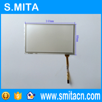 5.8'' inch 4 wire resistive soft screen panel 144mm*88mm ST-05801 GPS navigation touch screen