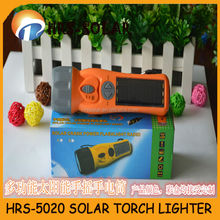 HRS-5020 Solar torch with Digital FM radio,mobile charger,solar desk lamp