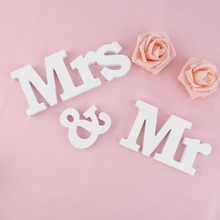 Mr Mrs Wooden Craft Letters for Wedding Decoration Sign