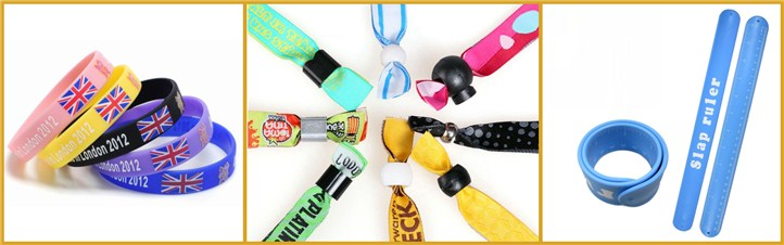 Promotional Festival Custom Fabric Woven Wristbands For Events