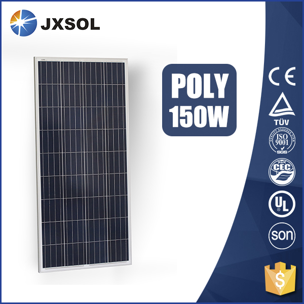 factory direct sale paneles solares poly 150wp pv module with TUV CE certificates