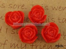 Resin rose cabochon for lover