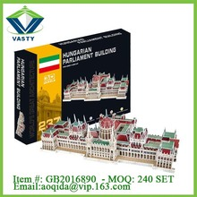 Educational 3D paper model 237 PCS world famous building 3d puzzle