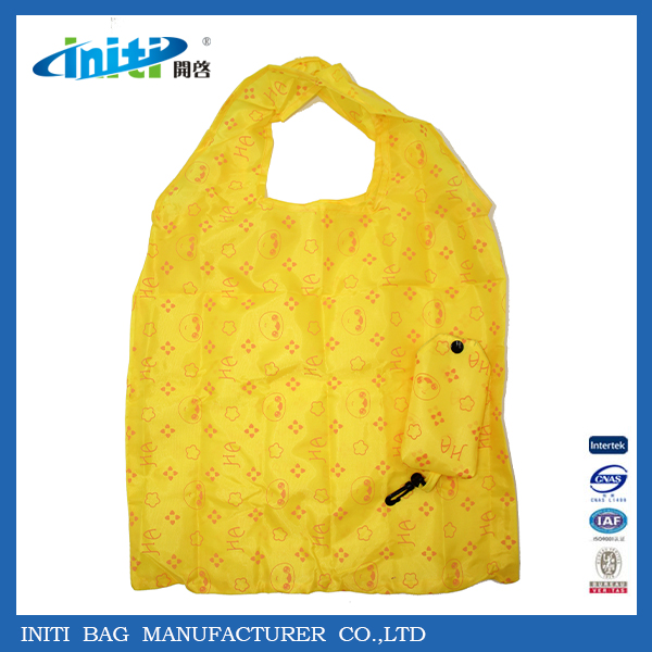 Fashion Reusable Polyester Foldable Bag