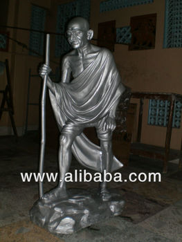 Mahatma Gandhi life-size Idol Statue made of Fiberglass (Unbreakable)