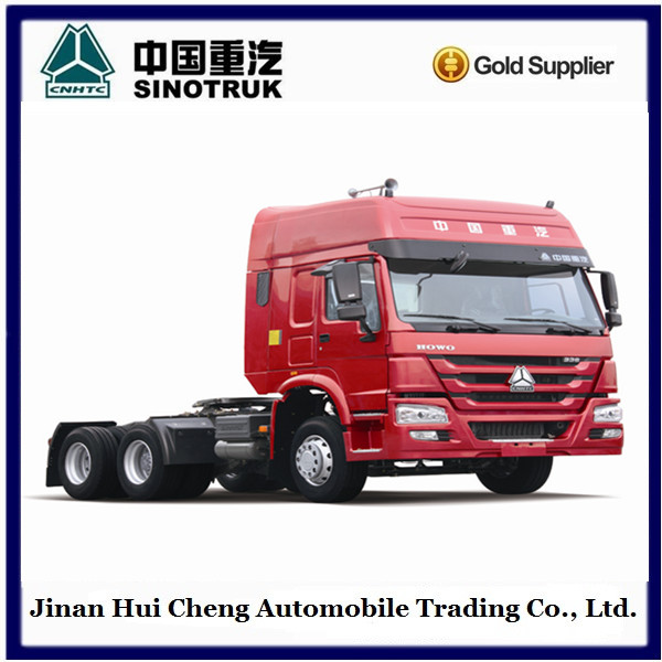 cheap price 6x4 10 wheel 40 ton tractor truck / trailer head for myanmar