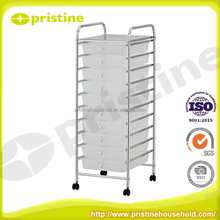 high quality office trolley Trolley Cart colorful steel PP 10 storage cart