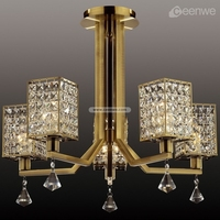 Comtemporary Brass Finished led k9 crystal chandelier lighting