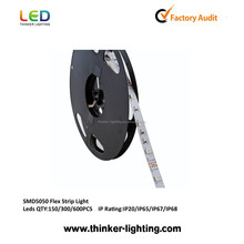 magic 5050 led strip , led flexible strip light for christmas decoration with R/G/B/Y/W/RGB option