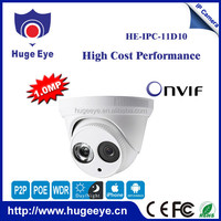 Hugeeye wired dome ip camera hd 720p ip dome camera mini like Hikvision ip dome camera