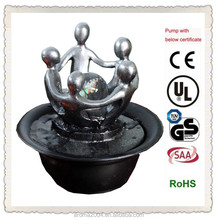 round ball resin silver statue decor indoor fountain