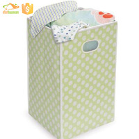 Fashion and Modern Household Canvas Folding laundry basket