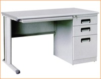 Teacher Office Metal Desk with One 3 Drawer Filing Cabinet