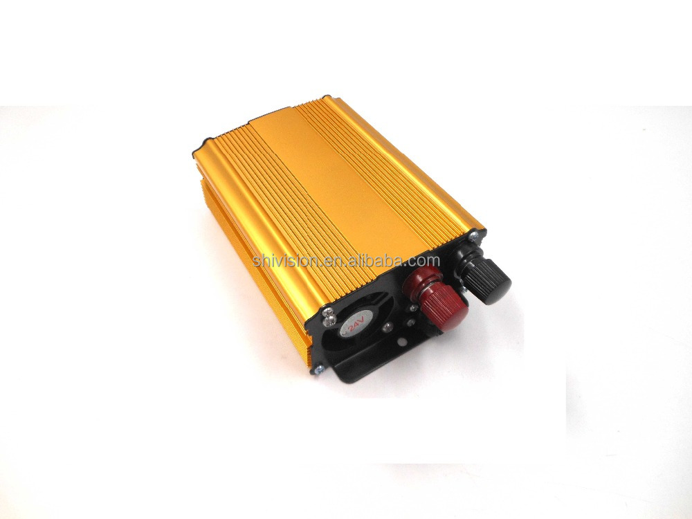 Manufacturer Price 300W DC 24V To AC 110V 220V Single Phase Power Inverter with Charge for Solar System(Gold)