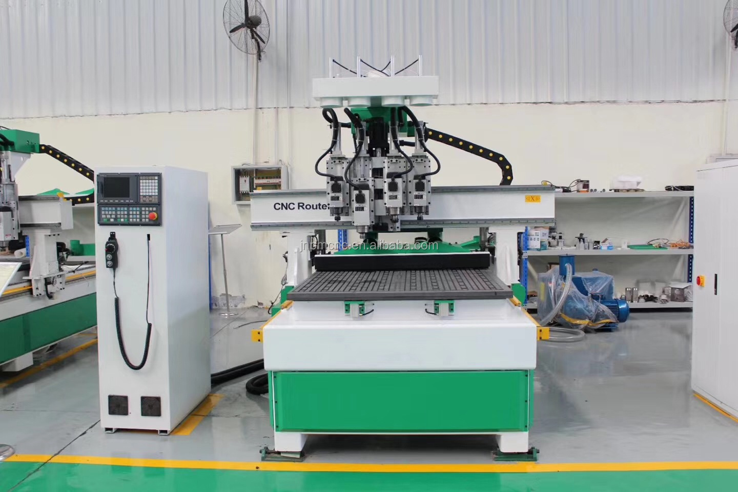 high precision and fast speed german woodworking machinery/pneumatic tool changer cnc machine with four spindles